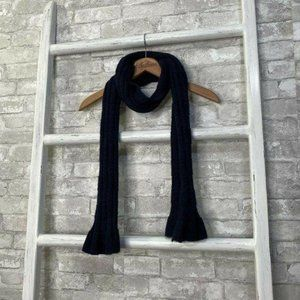 YSL Yves Saint Laurent Navy Blue Scarf